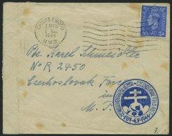 BRITISCHE MILITÄRPOST 1944, Brief An Einen Angehörigen Der Tschechischen Brigade, Mot. Aufklärungs-Zug, A