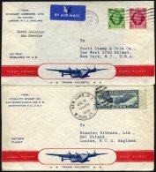 GROSSBRITANNIEN 30.6.1939, Erstflug SOUTHAMPTON-NEW YORK, Mit Boing 314 Yankee-Clipper Geflogen, Hin- Und Rückflug