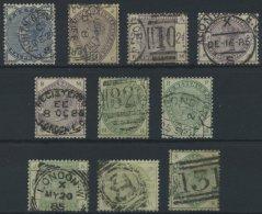 GROSSBRITANNIEN 72-81 O, 1883, Königin Victoria, Sauber Gestempelter Prachtsatz, Mi. 1200.-