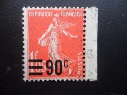 Année 1926 - 27  N° 227 Oblitéré Semeuse 90c Sur 1.05F Vermillon
