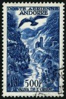 FRANZÖSISCHE-POST 160 O, 1957, 500 Fr. Flugpostmarken, Pracht, Mi. 100.-