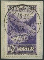 FRANZÖSISCHE-POST 42 BrfStk, 1933, 1.75 Fr. Blauviolett, Prachtbriefstück, Mi. 150.-