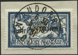 FRANZÖSISCHE-POST 21 BrfStk, 1931, 5 Fr. Blau/sämisch, Prachtbriefstück, Mi. 350.-