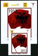 ALBANIEN 3411-14 **, 2012, Unabhängigkeit Im Markenheftchen, Dazu Sonderheft Mit Albanien Nr. 3412, Kosovo Nr. 237