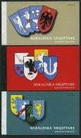 ALBANIEN ** , 2001-05, Wappen In 5 Verschiedenen Markenheftchen Komplett, Pracht
