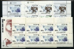 ALBANIEN 2510/1,Bl. 97 **, 1992, Europa Im Kleinbogensatz, Als Block Und 60 Q. Im 14er-Streifen (1x Gefaltet), Pracht