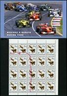 ALBANIEN 2423I,2740-49MH **, 1990/2000, 10 Q. Gemse, 6x Mit Abart Ge Oben Rechts Unter L Und Markenheftchen Rennwagen, P