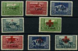 ALBANIEN 96-103 **, 1924, Rotes Kreuz I Und II, Nr. 103 Gummiknitter Sonst 2 Prachtsätze, Mi. 200.-