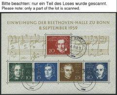 ENGROS Bl. 2 O, 1959, Block Beethoven, 5x Bedarfsgestempelt, Feinst/Pracht, Mi. 250.-