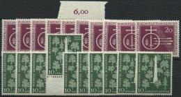 ENGROS 216,220 **, 1955, Lechfeld Und Stifter, Je 10x, Pracht, Mi. 145.-