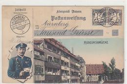 Tausend Grüsse Aus Museumsbrücke - 1906     (PA-1-140807) - Nuernberg