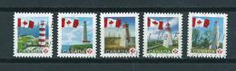 2007 Canada Complete Set Lighthouses,vuurtorens,leuchttürme Used/gebruikt/oblitere