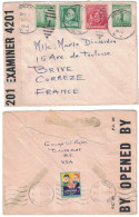 "USA - 1940 LETTRE Pour BRIVE FRANCE Avec CENSURE MILITAIRE ""opened By Examiner 4201"" De BROCKPORT + CHRISTMAS"