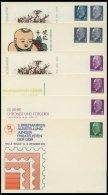 GANZSACHEN PP BRIEF, Privatpost: 1961-66, 5, 10, 15 Und 25 Pf. Ulbricht, 6 Verschiedene Ungebrauchte Ganzsachenkarten, P