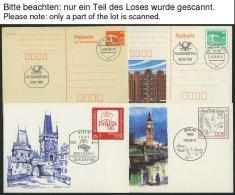 GANZSACHEN P BRIEF, 1986-90, 18 Verschiedene Ganzsachenkarten Mit Sonderstempeln, Mi. 100.-