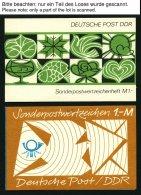 ZUSAMMENDRUCKE A. MH 5 -SMHD 41 **, 1971-88, Partie Von 37 Meist Verschiedenen Markenheftchen Im Spezialalbum, Etwas Unt