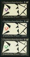 ZUSAMMENDRUCKE SMHD 8ea,eg,ej **, 1974, Markenheftchen Brieftaube In Schwarz/lebhaftrot, Schwarz/grün Und Schwarz/v