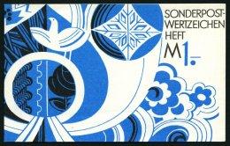 ZUSAMMENDRUCKE SMHD 7cdy **, 1974, Markenheftchen Posthorn Und Taube In Kobaltblau/schwarz, Papierdeckel, Pracht, Mi. 11