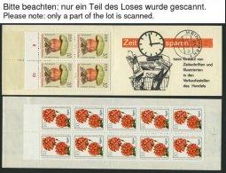 ZUSAMMENDRUCKE A. SMHD 3a-6ba **, 1972-74, 6 Verschiedene Markenheftchen, Fast Nur Pracht, Mi. 125.-