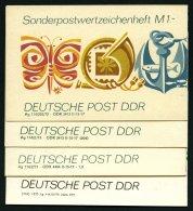 ZUSAMMENDRUCKE SMHD 3a,b,d,e **, 1972, 4 Verschiedene Markenheftchen Freizeit, Pracht, Mi. 65.-