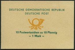 ZUSAMMENDRUCKE SMHD 1a O, 1972, Markenheftchen Posthorn, Text Grün, Posthorn Dunkelgelborange, Pracht