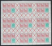 ZUSAMMENDRUCKE MHB 9 **, 1960, Markenheftchenbogen Fünfjahresplan, Pracht, Mi. 380.-