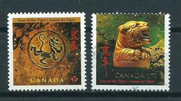 2010 Canada Complete Set Year Of The Tiger Used/gebruikt/oblitere