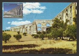 Portugal Elvas Site UNESCO Aqueduc De Amoreira Carte Maximum 2014 Elvas World Heritage Aqueduct Maxicard