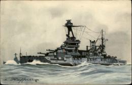 MARINE DE GUERRE - Bateaux De Guerre - CUIRASSE - LORRAINE - Dessin D'Haffner - Warships