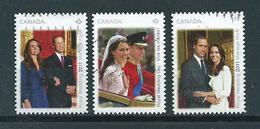2011 Canada Complete Set William&Kate Royal Wedding Used/gebruikt/oblitere