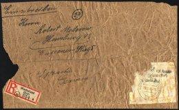 WESTERLAND 1945, Gebührenzettel 70 Pf. Nachw. In Westerland Auf R-Päckchenadresse, Fein (stärkere Bedarfs