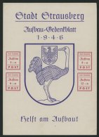 STRAUSBERG Bl. 3 (*), 1946, Gedenkblatt Aufbau, Ohne Gummi, Pracht, Mi. 65.-