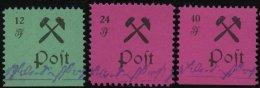GROSSRÄSCHEN 25-27IV **, 1945, 12- 40 Pf., Type IV (Schusterkammer), Prachtsatz, Mi. 600.-