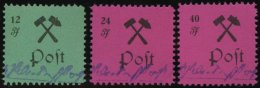 GROSSRÄSCHEN 25-27aI **, 1945, 12 - 40 Pf., Type I, Prachtsatz, Mi. 190.-