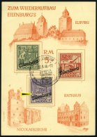 EILENBURG I-IIIA BrfStk, 1946, Wiederaufbau, Gezähnt, Auf Spendenkarte, Dabei Nr. III Mit Abart (auf Mi.Nr. 89I), P