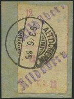 ALTDÖBERN 2I Paar BrfStk, 1945, 12 Pf. Werziffern Rot, Stellung I, Im Senkrechten Paar, Feinst (Aufklebebug Und Etw