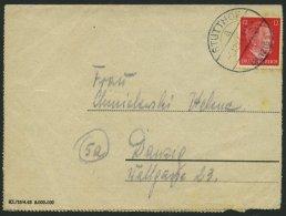 LAGERPOST II.WK 5.12.1944, Kartenbrief Aus Dem Konzentrationslager STUTTHOF B. DANZIG Mit 12 Pf. Hitler, Feinst