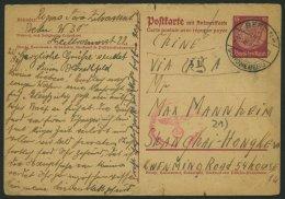 LAGERPOST II.WK P 227I BRIEF, 29.9.1941, 15 Pf. Hindenburg-Ganzsachenkarte In Den Jüdischen Gettobezirk SHANGHAI-HO