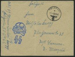 FELDPOST II. WK BELEGE 2.10.1943, Feldpostbrief Der Hitlerjugend 12. SS-Panzerdivision, FP-Nummer 58696C, Mit Groß