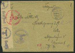 FELDPOST II. WK BELEGE 9.3.1943, Feldpostbrief Mit Offenem Absender: Funker Fliegerhorst Ohlau Luftnachrichten Stelle Fl