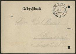 FELDPOST II. WK BELEGE 1939, Benachrichtigungskarte über Zuteilung Der Feldpostnummer, Stempel DÖBERITZ Ü