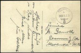 FELDPOST II. WK BELEGE 21.3.1939, Feldpost-Ansichtskarte: Herzliche Grüße Von Unserem Einmarsch In Prag Sende