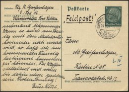 FELDPOST II. WK BELEGE P 226 BRIEF, 1937, 6 Pf. Graugrün Ganzsachen-Manöverkarte Mit Absender Flieger 5/Fea 12