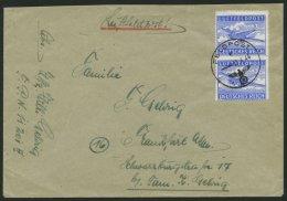 FELDPOSTMARKEN 1B Paar BRIEF, 1944, Zulassungsmarke, Durchstochen, Im Senkrechten Paar Auf Heimat-Luftfeldpostbrief Von