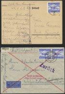 FELDPOSTMARKEN 1A/B BRIEF, 1942/3, Luftfeldpost, 3 Verschiedene Bessere Belege, Pracht