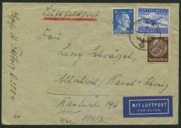 FELDPOSTMARKEN 1A BRIEF, 1942, Zulassungsmarke, Gezähnt, Mit Zusatzfrankatur Auf Luftfeldpostbrief Von FP-Nummer 03