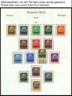 SAMMLUNGEN U. LOTS *,**,o , Ungebrauchte Sammlung Mit Elsaß, Lothringen, Luxemburg Und Ukraine, Dazu Elsaß G