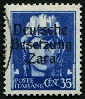 ZARA 7 O, 1943, 35 C. Blau, Type I, Pracht, Gepr. Ludin, Mi. 550.-
