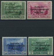 MONTENEGRO 10-13 **, 1943, 25 C. - 2 L. Nationaler Verwaltungsausschuss, 4 Prachtwerte, Mi. 240.-