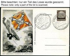 LOTHRINGEN P BRIEF, 1940/1, 4 Verschiedene Ungebrauchte Ganzsachenkarten, 2 Davon Leer Gestempelt, Sonderstempel STRASSB